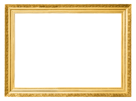 gold frames: Gold vintage frame isolated on white background