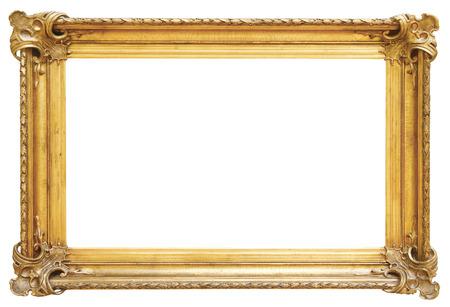 흰색 배경에 고립 골드 빈티지 프레임 스톡 콘텐츠 - 48625402