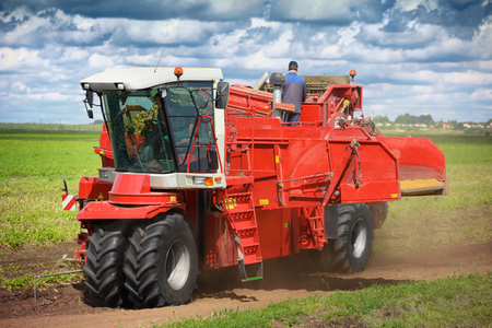 agronomic: Modern agricultural machinery for planting and harvesting vegetables