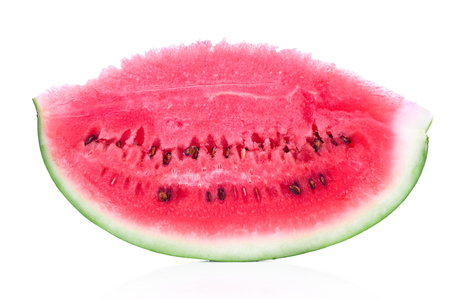 sliced watermelon: Fresh sliced watermelon isolated on white background