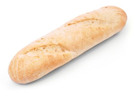 breadstick: Loaf of french bread isolated on white background Stock Photo