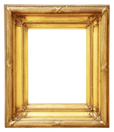 흰색 배경에 고립 골드 빈티지 프레임 스톡 콘텐츠 - 48626684