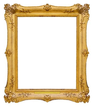 Cornice oro d'epoca isolato su sfondo bianco Archivio Fotografico - 48630507
