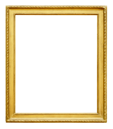 Gold vintage frame isolated on white background Stock Photo - 48630718