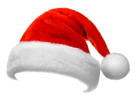 Santa Claus red hat isolée sur fond blanc Banque d'images - 48630721