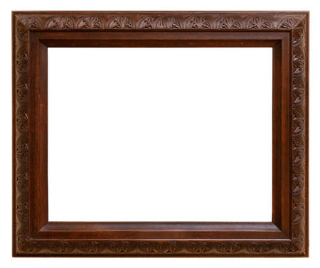 wooden frame: Vintage wooden frame isolated on white background Stock Photo