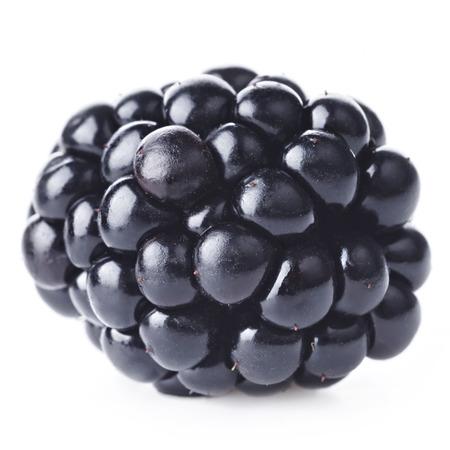 ripe: Fresh blackberry on white background