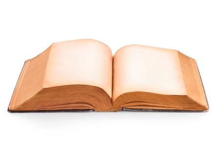 libros abiertos: páginas amarillas vacías de libro viejo Foto de archivo