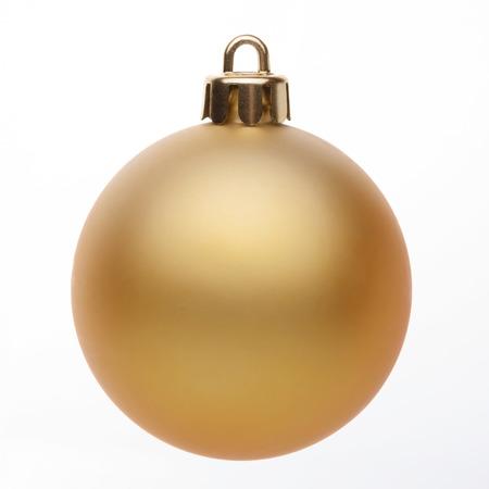 골드 크리스마스 공 흰색 배경에 고립 스톡 콘텐츠 - 48925733