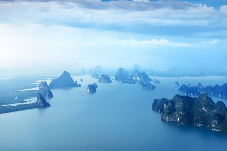 asia pacific: Aerial view of  islands near Phuket, Thailand
