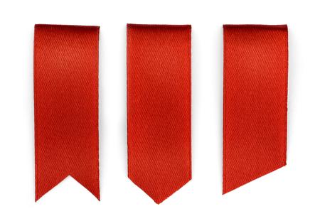 빨간색 북마크 세트 흰색 배경에 고립 스톡 콘텐츠