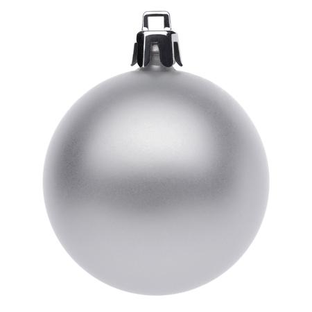 Silvertmas palla isolato su sfondo bianco Archivio Fotografico - 48928544