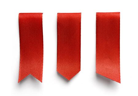 Reeks rode referenties die op witte achtergrond wordt geïsoleerd