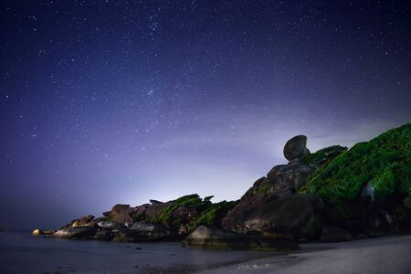 night background: Night tropical landscape. Similan islands, Thailand
