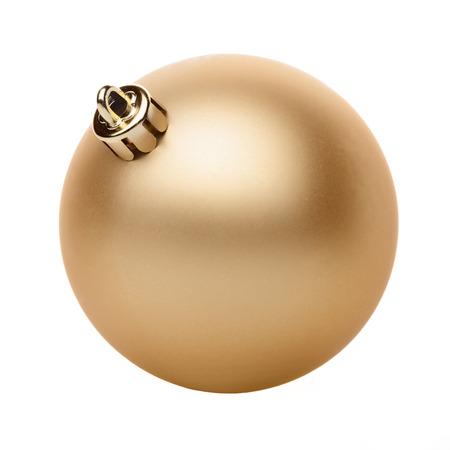 Gouden Kerst bal geïsoleerd op witte achtergrond