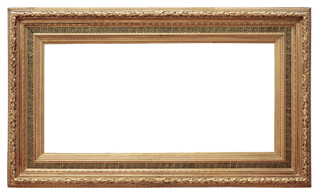 Houten vintage frame geïsoleerd op een witte achtergrond