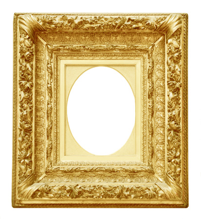 Vintage frame or isolé sur fond blanc Banque d'images - 48931717