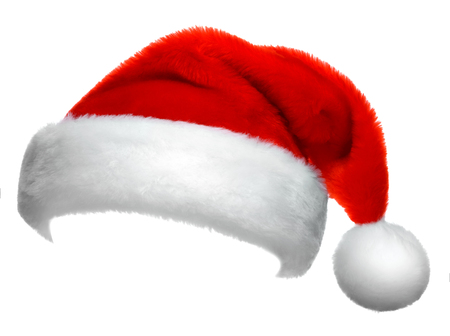 Santa Claus red hat isolated on white background Standard-Bild