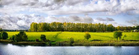 Automne paysage panoramique Banque d'images