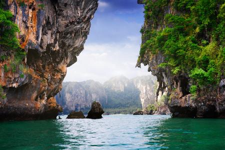 railay: Tropical landscape. Railay beach, Krabi, Thailand