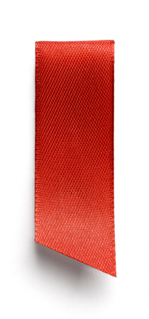 bookmark background: Red bookmark isolated on white background