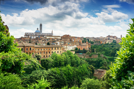 sienna: Panoramic view of Sienna city, Italy
