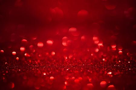 빨간 크리스마스 반짝이 배경