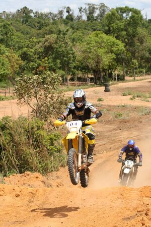 motorcross: Motor Cruz Motorcross Foto de archivo
