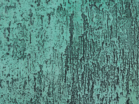 verdigris: Copper or bronze with patina green Stock Photo