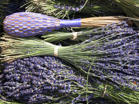 Lavender herbs at a market. Germany, Europe Stock Photo