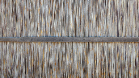 Wall of reed. Detail of a traditional building in Barra. Inhambane, Mozambique, Southern Africa Stock Photo