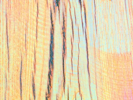 fulfilling: Orange and turquoise colored oak wood texture