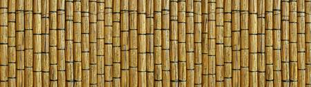 Wall made of reed mats, Africa background Stock Photo