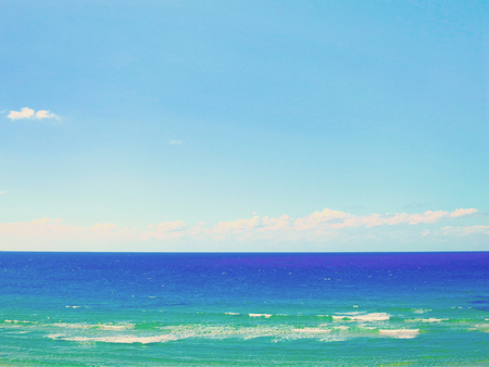 Sea background, waves and blue sky with clouds Stock Photo - 60390036