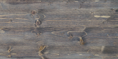 Weathered, rustic wood texture with knotholes Stock Photo