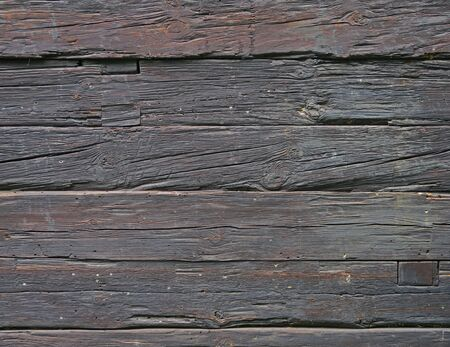 Wall of old and weathered oak wood with copyspace Stock Photo - 60396740