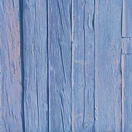 Blue colored oak wood background