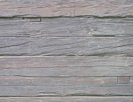 Wall of old and weathered oak wood with copyspace Stock Photo - 60396777
