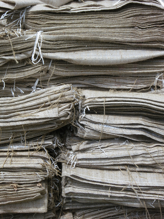 fulfilling: Heap of jute sacks