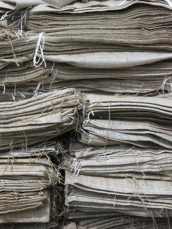 Heap of jute sacks