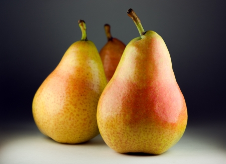 Freshly harvested pears