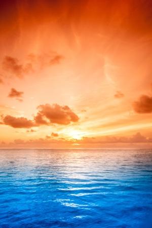 Tropical sea water in Maldives Stock Photo
