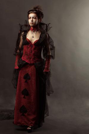 Fashion Gothic Style Model Girl Portrait photo