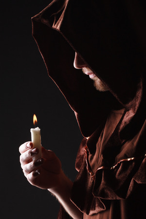 mysterious Catholic monk photo