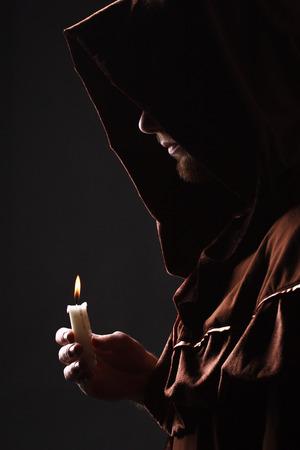 神秘的なカトリック修道士 写真素材