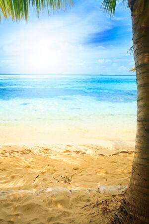 Tropical blue sea water in Maldives photo