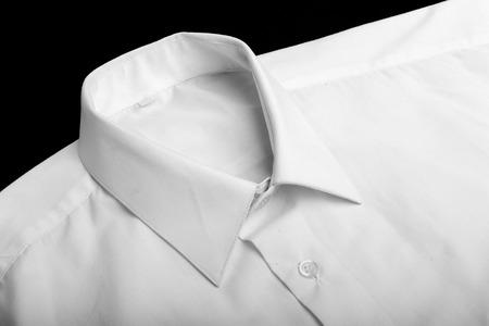 Fold white long sleeves shirt. studio shot photo