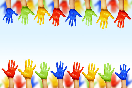 hands of different colors. cultural and ethnic diversity Stock Photo - 29457490