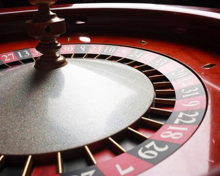 Old Roulette wheel. casino series. studio shot photo