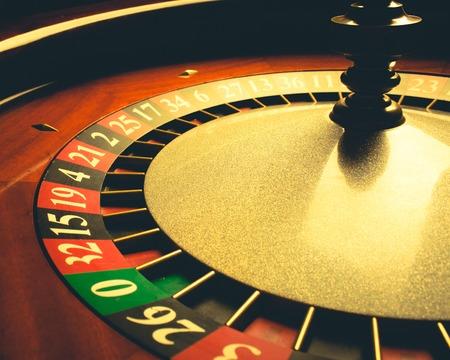 Oude Roulette wiel. casino-serie. studio-opname